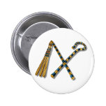 Flail & Crook Pinback Button