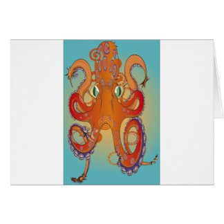 Flailing Octopus Greeting Card