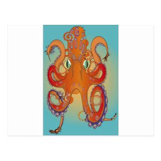 Flailing Octopus Postcard