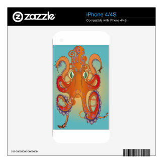Flailing Octopus Skin For The iPhone 4S