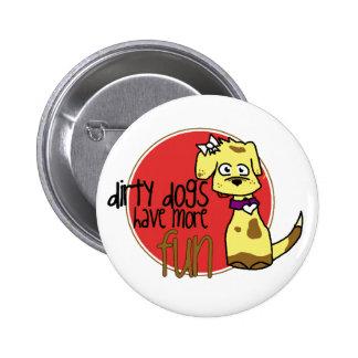 Flair- Dirty Dog Yellow Lab Girl Pin