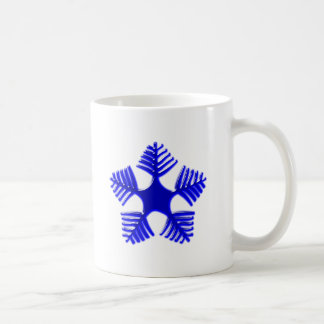 Flake blue glass snowflake glass blue coffee mug