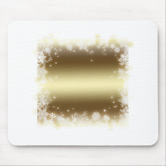 flake, gold mouse pad