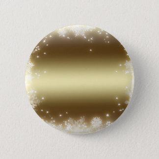 flake, gold pinback button