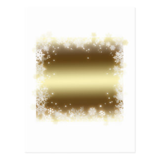 flake, gold post card