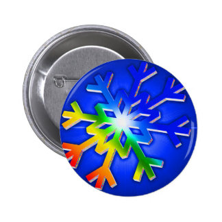 Flake of love pinback button