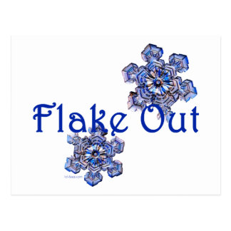 Flake Out Post Card