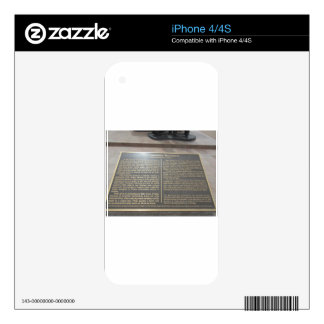 Flake Plaque Skins For iPhone 4S
