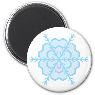 Flake snow flake magnet