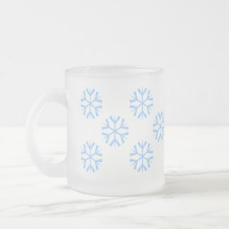 Flakes - frost frosted glass coffee mug