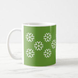 Flakes - green coffee mug