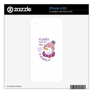 FLAKES RUN IN MY FAMILY DECALS FOR THE iPhone 4S
