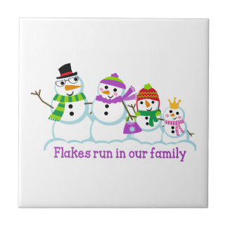 FLAKES RUN IN OUR FAMILY SMALL SQUARE TILE
