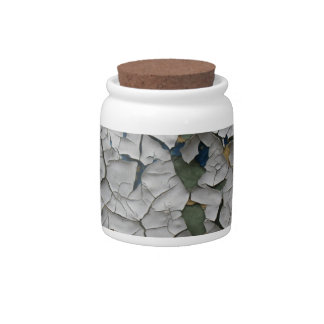 Flaking Paint Decorative Cork Lid Jar Candy Dish