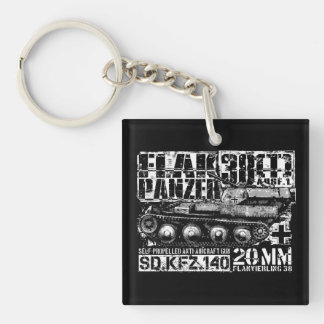 Flakpanzer 38(t) Double-Sided Square Acrylic Keyc Double-Sided Square Acrylic Keychain