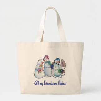 Flaky Friends Tote Bags