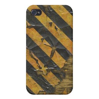 Flaky hazard warning design iPhone 4 covers