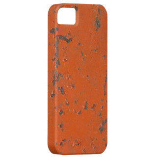 Flaky, scratched red paint. Faux rust and grunge iPhone 5 Case