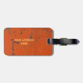 Flaky, scratched red paint. Faux rust and grunge Travel Bag Tag
