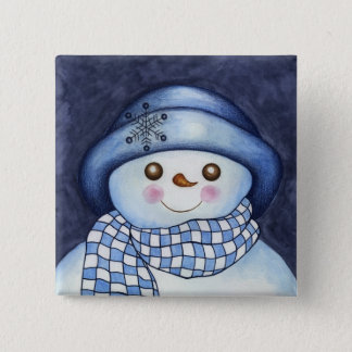 Flaky Snowman Button