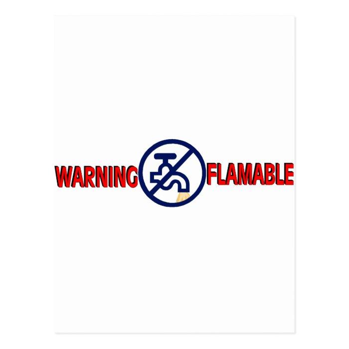 FLAMABLE WATER POSTCARD
