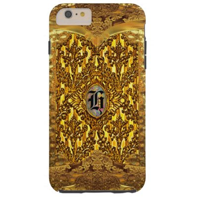 Flambeau Elegant Damask Monogram Tough iPhone 6 Plus Case