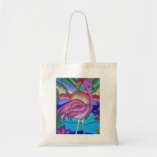 Flamboyant Flamingo Budget Tote