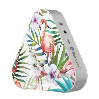 Flamboyant Flamingo Tropical nature garden pattern Speaker