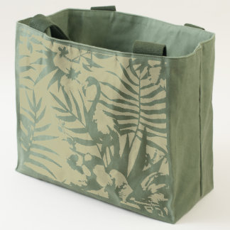 Flamboyant Flamingo Tropical nature garden pattern Tote