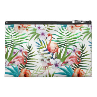 Flamboyant Flamingo Tropical nature garden pattern Travel Accessory Bag