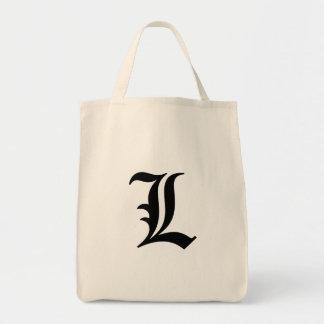 """Flamboyant monogram """"L"""" Grocery Tote Bag"""