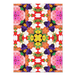 Flamboyant Splash of Flowers Card