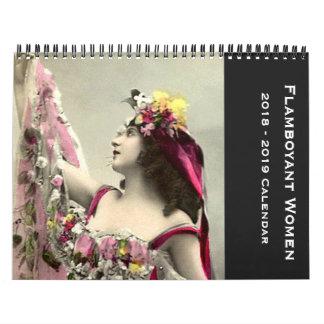 Flamboyant Women 12 Month Start September 2018 Calendar