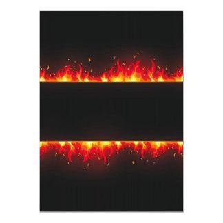 flame#2 5x7 paper invitation card