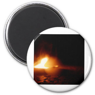 Flame 2 Inch Round Magnet