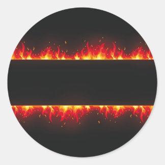flame#2 pegatina redonda