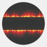 flame#2 pegatinas redondas