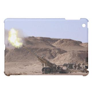 Flame and smoke emerge from the muzzle iPad mini case