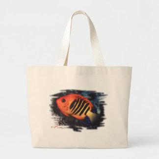 Flame Angelfish by H2Oasis Jumbo Tote Bag