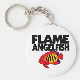 Flame Angelfish Keychain