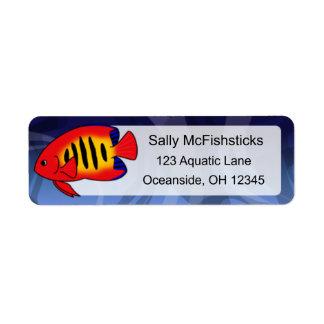 Flame Angelfish Label