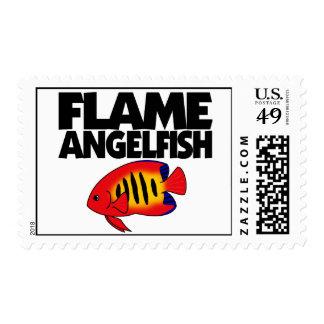 Flame Angelfish Postage Stamps