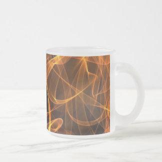 flame art orange 010 10 oz frosted glass coffee mug