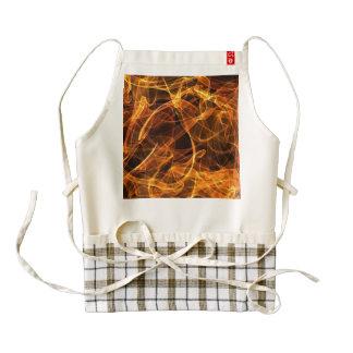 flame art orange 010 zazzle HEART apron