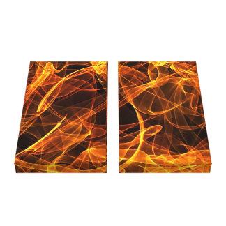 flame art, orange canvas print