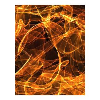 flame art orange letterhead design