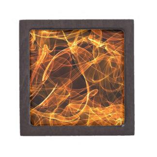flame art orange premium trinket box