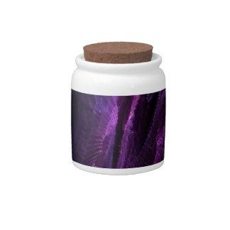 flame art purple, candy jars