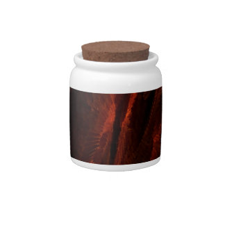 flame art red candy jars