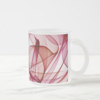 flame art red-white 10 oz frosted glass coffee mug